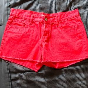 Pants - Bright red cut off shorts from Old Navy style:Diva
